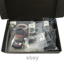 1/28 MINID Drift Racing AWD Chassis Model EVO Body Shell RC Car KIT With Motor ESC