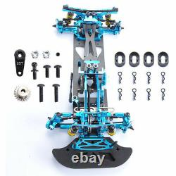 110 4WD RC Car Drift Alloy Carbon Fiber RC Racing Car Drive Shft Frame Kit Blue