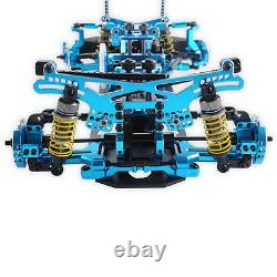 110 G4 4WD Alloy Metal&Carbon Frame Body Chassis Kit BLUE For Drift Racing Car