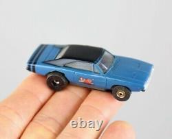 Aurora Dodge Charger #1407 Blue HO Scale Slot Car Vintage T-Jet Race Car chassis