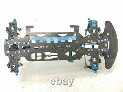 CSO Racing Aluminum 1/10 4wd Carbon Fiber Touring Car Roller Slider Chassis Used
