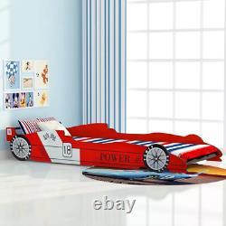 Car Bed Frame Kids Bedroom Child Children Boys Girls Single Racing Wooden Bed