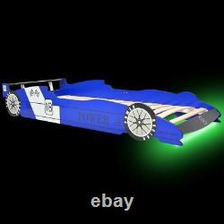 Car Design Bed Frame Kids Bedroom Child Children Single Racing Bed With LED New