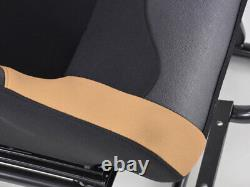 Car Gaming Racing Sim Frame Chair Bucket Seat Black Beige Fits Logitech PS5 XBox