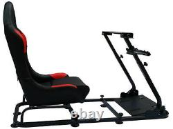 Car Gaming Racing Sim Frame Chair Bucket Seat For XBox PS5 Black Red Gift