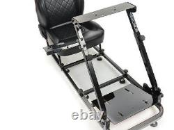 Car Gaming Racing Sim Frame Chair Bucket Seat Frame PS4 XBox Faux Leather Black