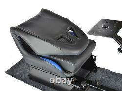 Car Gaming Racing Simulator Frame Chair Bucket Seat Frame Black Blue PS5 Xbox