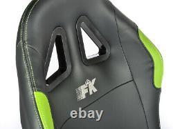 Car Gaming Racing Simulator Frame Chair Bucket Seat Frame Black Green PS5 Xbox