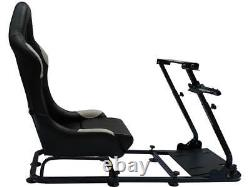 Car Gaming Racing Simulator Frame Chair Bucket Seat Gift For PS5 XBox Black Grey