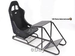 Car Gaming Racing Simulator Frame Chair Bucket Seat PC PS3 PS4 XBOX Black Forza