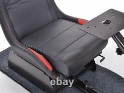 Car Gaming Racing Suzuka Simulator Frame + Chair Bucket Seat Red/Black + Carpet