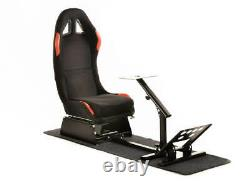Car Gaming Steering Wheel Racing Frame Chair Bucket Seat Black Red For XBox PS5