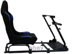 Car Race Gaming Racing Sim Frame Chair Bucket Seat PC PS4 XBox PS3 Black/Blue