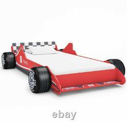 Children Kids Racing Car Bed Frame Single Toddler Junior Red Car Bed 90x 200 cm