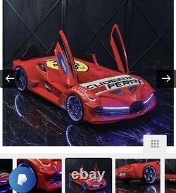 Children's Race Car Bed 90x200 cm Kids Toddler Bed Frame Original Price £599