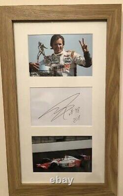 Dan Wheldon Race Car Driver Legend Indy 500 Winner Signed In Mounted Frame