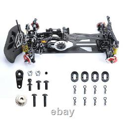 Electric RC 1/10 Model Drift Racing Car 4WD Body Frame Chassis G4 Alloy&Carbon