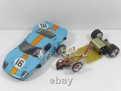 Ford GT40 Gulf auf MH-Racing Chassis 124 1/24 Slotcar TOP! (F6719)