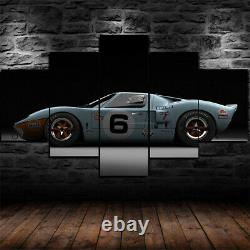 Ford GT40 Racing Car 5 Panel Canvas Print Wall Art Poster Home Decoration