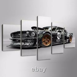 Ford Mustang RTR Racing Sports Car Framed 5 Piece Canvas Wall Art Painting Wallp