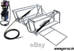 GoRacin. Com Portable Hydraulic Race Car Lift, with Steel Frame, 110V, Tuner, Chevy