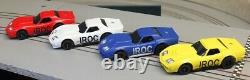 HO Slot Car IROC Racing Set Viper Chassis with Bob Beers AP Corvette Bodies
