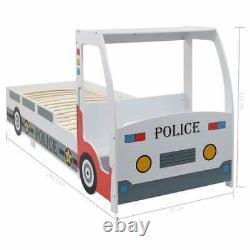 Kids Bed Frame Police Car Single Boys Children Slatted Bedroom Furniture Racing
