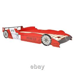 Kids LED Racing Car Bed Bedroom Wooden Single Bed for Children Boys Girl Frame