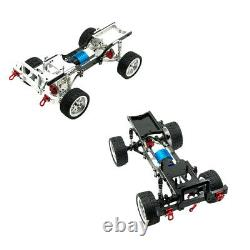 Metal 1/12 Drift RC Racing Car Frame Body Chassis Kit for MND90 MN99S Parts