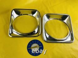 New + Original Opel Ascona A Saloon Estate Chrome Pair Ornamental Ring Headlight