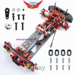 RC 110 Drift Racing Car G4 Frame Chassis disassembly Kit 4WD Metal&Carbon
