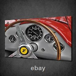 Racing Car Vintage Ferrari Dashboard Box Canvas Print Wall Art Picture