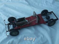 Rare Original Marklin 1107 racing car with correct 1101 chassis, box and Key