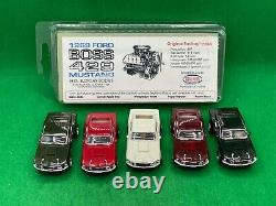 Road Race Replicas'69 Boss 429 Mustang 5 Car Set With Chassis, New Unused Rrr