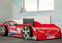 Sweet Dreams Finn Boost Car F1 Racing Bed Frame 90cm Red Gloss 3FT Single Bed