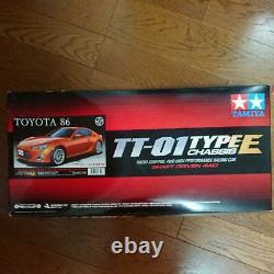 TAMIYA TOYOTA 86 TT-01 TYPE-E CHASSIS 1/10th SCALE RADIO CONTROL 4WD RACING CAR