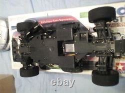 Tamiya 1/10 RC Audi A4 STW Belt Drive Chassis 4WD Racing Car boxed +Attack SR