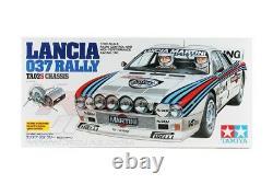 Tamiya 58654 1/10 RC TA02S Chassis Martini Racing Lancia 037 Rally Car Kit withESC