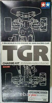 Tamiya TGR Chassis KIT Glow Engine RC 4WD Racing Car 1/8 Scale Toy Rare Unused