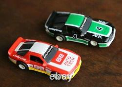 Vintage AURORA AFX Slot Cars CHEVY CAMARO TURBO CHASSIS Lot of 2 Race Car