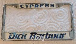 Vintage JDM Datsun Dealer License Plate Frame Dick Barbour Cypress 510 240Z 720