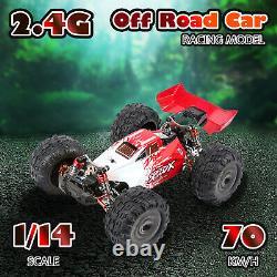 XLF F17 70km/H Racing Car 1/14 2.4GH 4WD RC Car Metal Chassis RTR Drift Car Gift