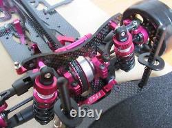 1/10 Alloy & Carbon Drift Racing Car Frame Body Kit Pour Sakura D4 Awd #kit-d4awd