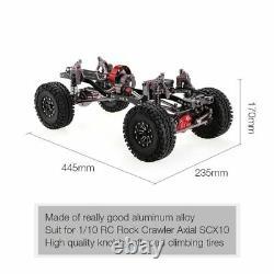 1/10 Cool Racing Cnc Aluminium Et Carbon Frame Axial Scx10 Châssis 313mm