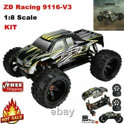100km/h Haute Vitesse Zd Racing 9116-v3 18 Électrique Monster Truck Car Frame Kit