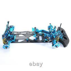 110 Cadre Fibre En Alliage Carbone Kit G4 Pour Hsp Hpi Rc 4 Roues Motrices Sur Route Voiture De Course Bleu