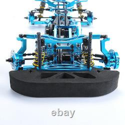 110 G4 Alliage 4x4 Métal & Carbon Frame Body Chassis Kit Blue For Drift Racing Car