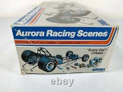 1973 Aurora Racing Scenes Funny Car Chassis 116 Model Kit # 847 Parts Lot
