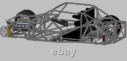 69 Mustang Supercar Race Car Châssis Plans Blueprints