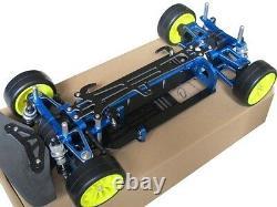 Alliage Et Carbone Tt01 Tt01e Shaft Drive 1/10 4wd Racing Car Châssis Frame Kit Rc